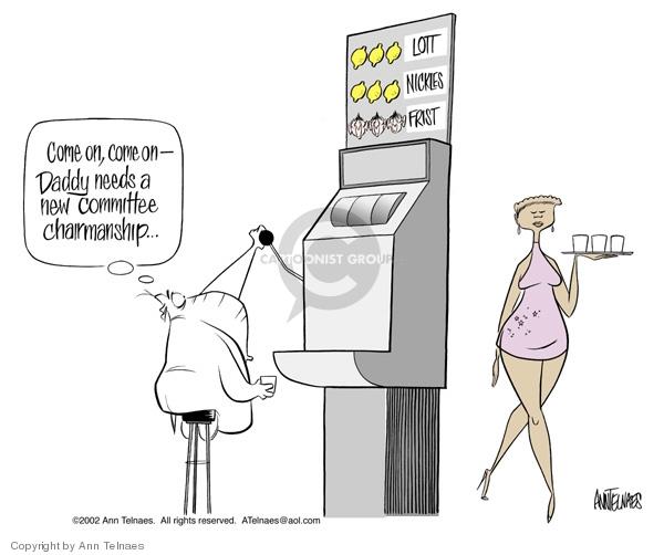 Cartoonist Ann Telnaes  Ann Telnaes' Editorial Cartoons 2002-12-19 senate