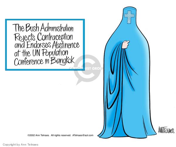 Cartoonist Ann Telnaes  Ann Telnaes' Editorial Cartoons 2002-12-20 Bush administration