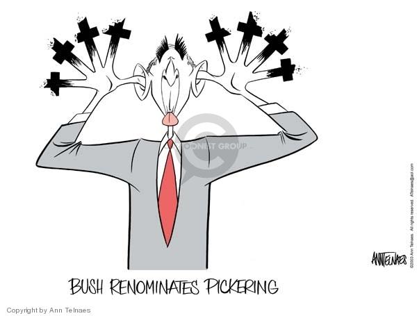 Ann Telnaes  Ann Telnaes' Editorial Cartoons 2003-01-09 George W. Bush