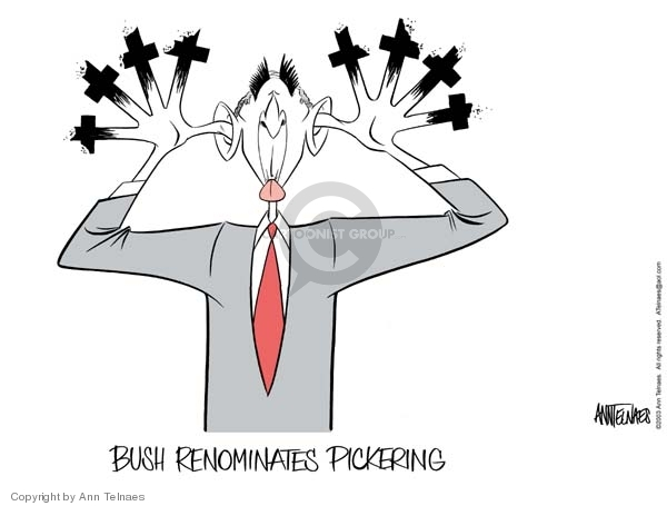 Bush renominates Pickering