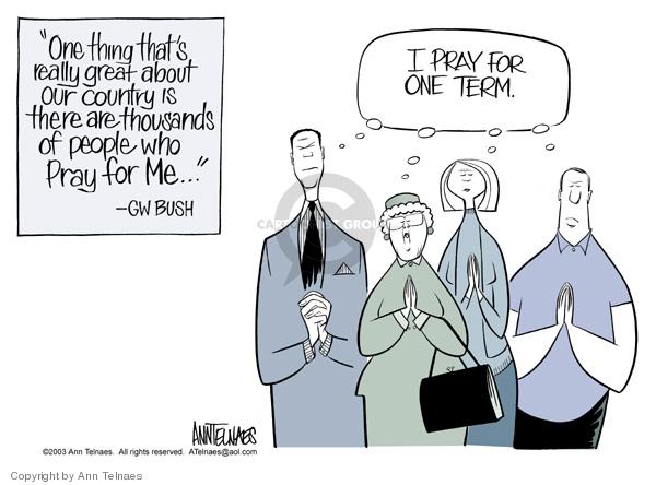 Ann Telnaes  Ann Telnaes' Editorial Cartoons 2003-03-07 Bush term