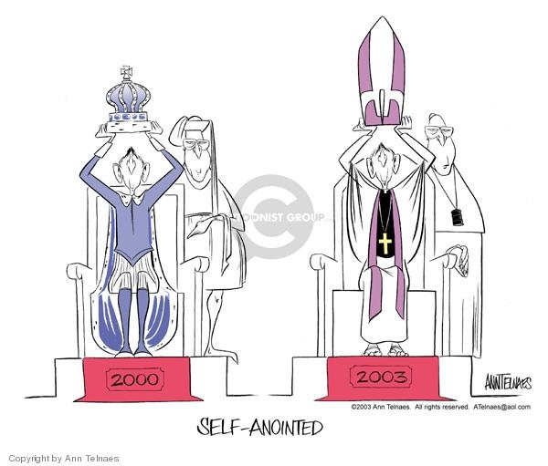 Ann Telnaes  Ann Telnaes' Editorial Cartoons 2003-03-11 pope