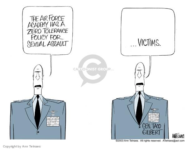 Ann Telnaes  Ann Telnaes' Editorial Cartoons 2003-03-16 zero tolerance