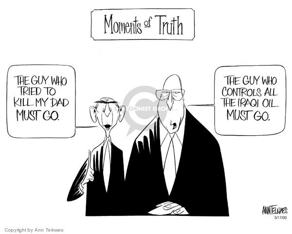 Ann Telnaes  Ann Telnaes' Editorial Cartoons 2003-03-17 senior