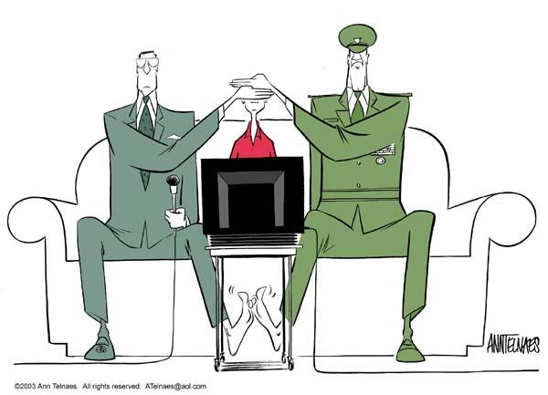 Ann Telnaes  Ann Telnaes' Editorial Cartoons 2003-03-25 network
