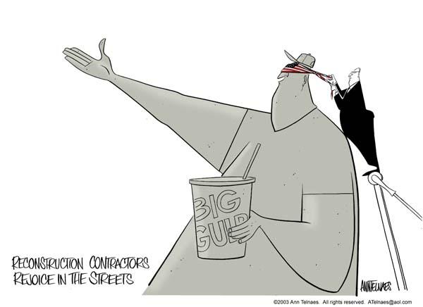 Ann Telnaes  Ann Telnaes' Editorial Cartoons 2003-04-10 Iraq