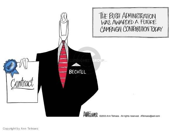 Cartoonist Ann Telnaes  Ann Telnaes' Editorial Cartoons 2003-04-19 process