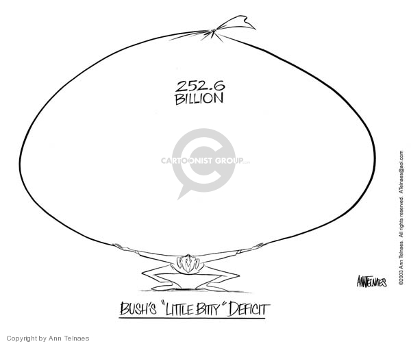 Ann Telnaes  Ann Telnaes' Editorial Cartoons 2003-04-25 deficit