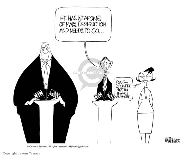Ann Telnaes  Ann Telnaes' Editorial Cartoons 2003-04-30 Iraq