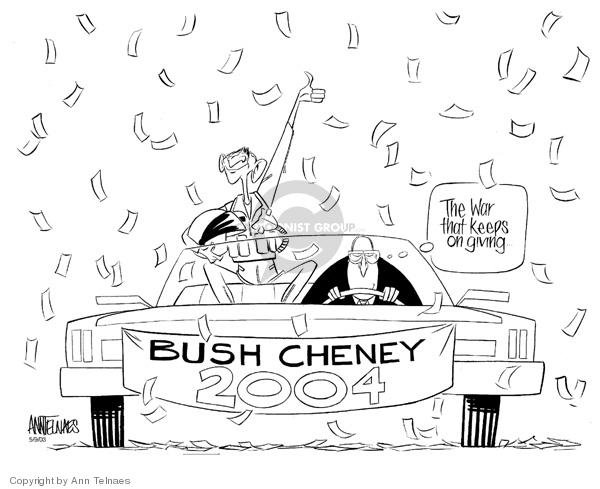 Ann Telnaes  Ann Telnaes' Editorial Cartoons 2003-05-09 2004 election