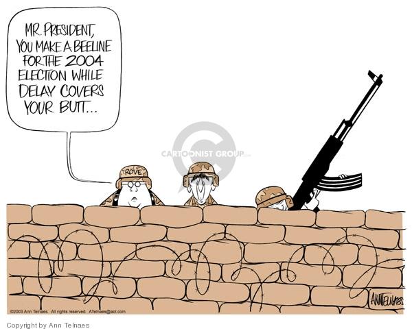Ann Telnaes  Ann Telnaes' Editorial Cartoons 2003-05-14 George W. Bush