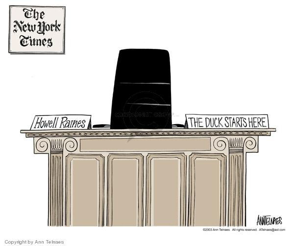 Ann Telnaes  Ann Telnaes' Editorial Cartoons 2003-05-17 New York