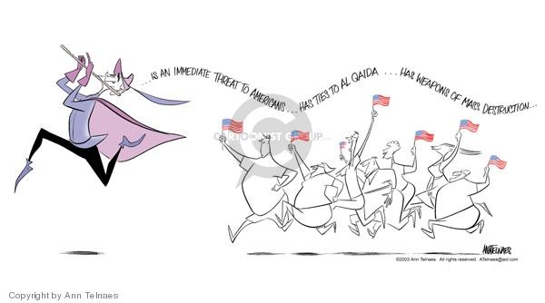 Ann Telnaes  Ann Telnaes' Editorial Cartoons 2003-05-29 Iraq
