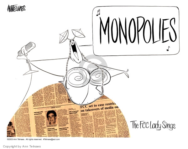 Ann Telnaes  Ann Telnaes' Editorial Cartoons 2003-06-02 media ownership