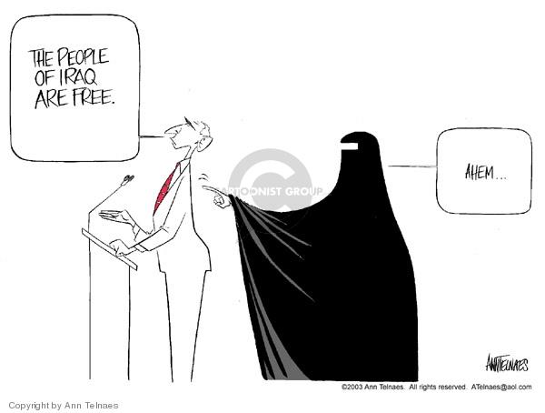 Ann Telnaes  Ann Telnaes' Editorial Cartoons 2003-06-17 Iraq
