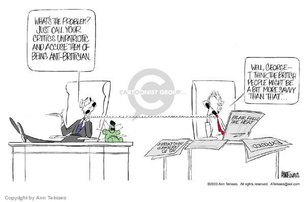 Ann Telnaes  Ann Telnaes' Editorial Cartoons 2003-06-19 Iraq