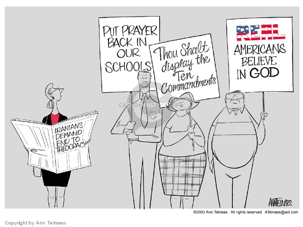 Ann Telnaes  Ann Telnaes' Editorial Cartoons 2003-06-20 commandment