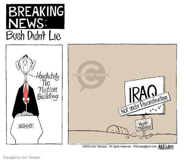 Ann Telnaes  Ann Telnaes' Editorial Cartoons 2003-06-25 Iraq civil war