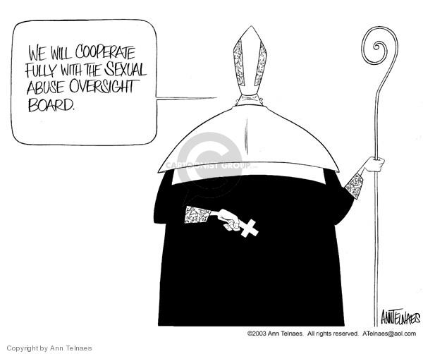 Ann Telnaes  Ann Telnaes' Editorial Cartoons 2003-06-27 oversight