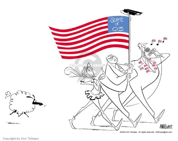 Ann Telnaes  Ann Telnaes' Editorial Cartoons 2003-07-02 media freedom