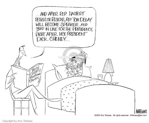 Cartoonist Ann Telnaes  Ann Telnaes' Editorial Cartoons 2003-07-07 vice president