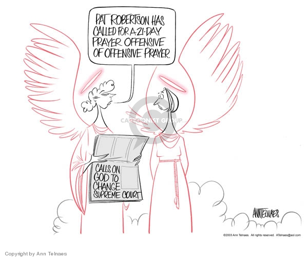 Ann Telnaes  Ann Telnaes' Editorial Cartoons 2003-07-16 God