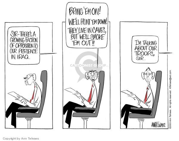 Ann Telnaes  Ann Telnaes' Editorial Cartoons 2003-07-18 Iraq