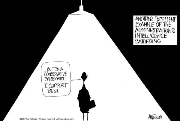 Ann Telnaes  Ann Telnaes' Editorial Cartoons 2003-07-22 support