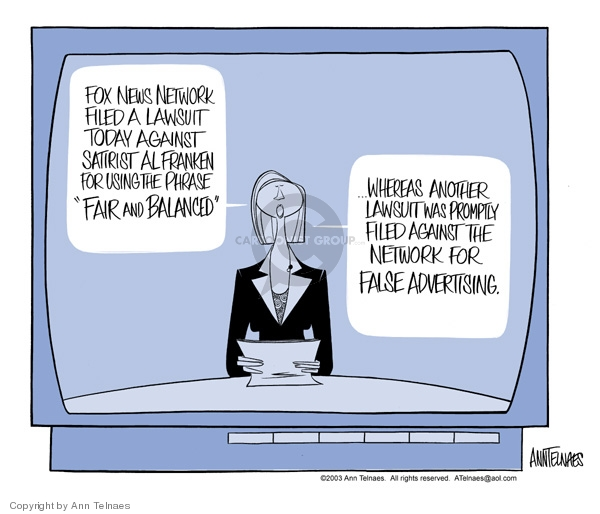 Ann Telnaes  Ann Telnaes' Editorial Cartoons 2003-08-12 network news