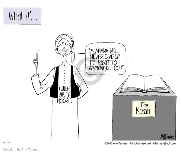 Ann Telnaes  Ann Telnaes' Editorial Cartoons 2003-08-17 commandment