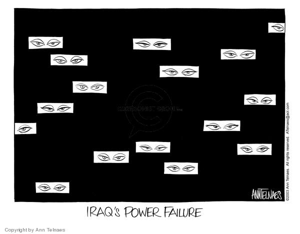 Ann Telnaes  Ann Telnaes' Editorial Cartoons 2003-08-18 Iraq