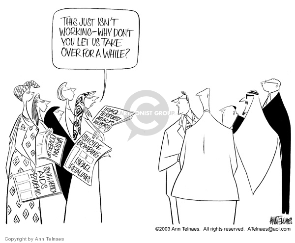 Ann Telnaes  Ann Telnaes' Editorial Cartoons 2003-08-22 Israel
