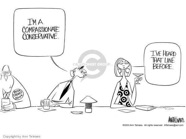 Cartoonist Ann Telnaes  Ann Telnaes' Editorial Cartoons 2003-08-26 vice president