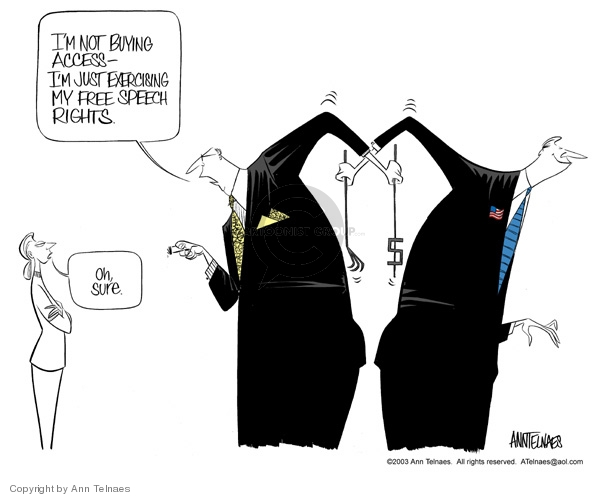 Ann Telnaes  Ann Telnaes' Editorial Cartoons 2003-09-09 John McCain