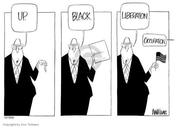 Ann Telnaes  Ann Telnaes' Editorial Cartoons 2003-09-13 black