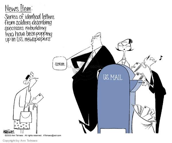 Ann Telnaes  Ann Telnaes' Editorial Cartoons 2003-10-13 letter