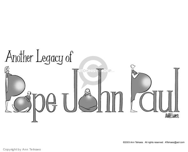 Ann Telnaes  Ann Telnaes' Editorial Cartoons 2003-10-17 pro-life