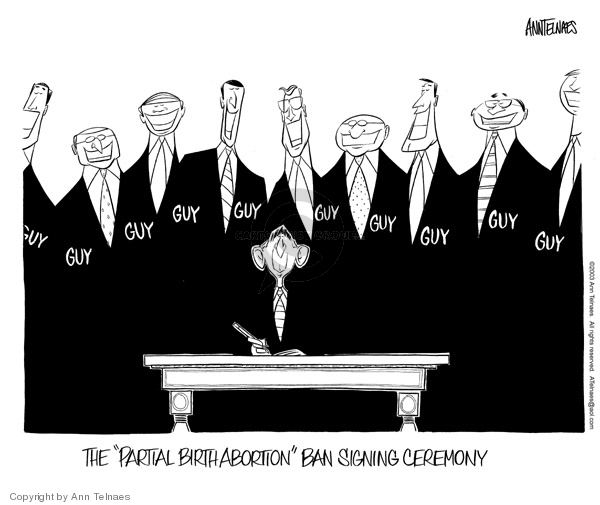 Ann Telnaes  Ann Telnaes' Editorial Cartoons 2003-11-06 late term