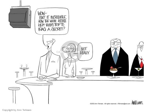 Cartoonist Ann Telnaes  Ann Telnaes' Editorial Cartoons 2003-11-29 trip