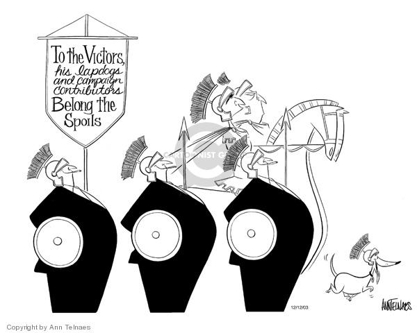 Ann Telnaes  Ann Telnaes' Editorial Cartoons 2003-12-12 Bush loyalty