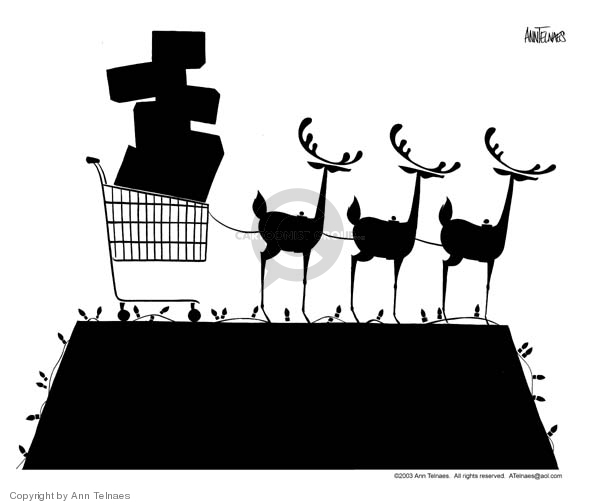 Ann Telnaes  Ann Telnaes' Editorial Cartoons 2003-12-22 consumerism