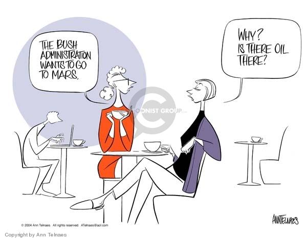 Ann Telnaes  Ann Telnaes' Editorial Cartoons 2004-01-10 George W. Bush