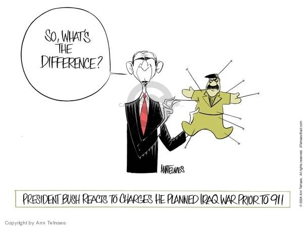 Ann Telnaes  Ann Telnaes' Editorial Cartoons 2004-01-13 George W. Bush
