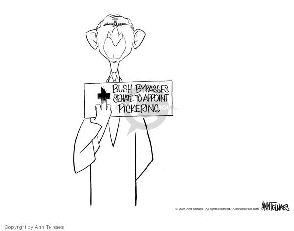 Cartoonist Ann Telnaes  Ann Telnaes' Editorial Cartoons 2004-01-18 senate