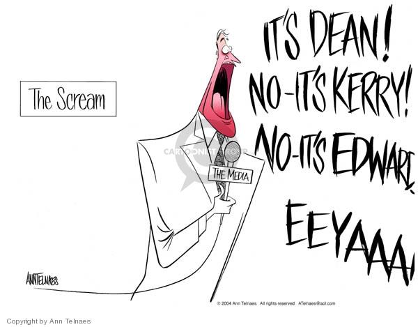 Ann Telnaes  Ann Telnaes' Editorial Cartoons 2004-01-21 John Kerry