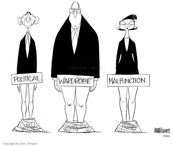 Cartoonist Ann Telnaes  Ann Telnaes' Editorial Cartoons 2004-02-03 political credibility