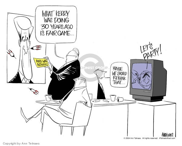Ann Telnaes  Ann Telnaes' Editorial Cartoons 2004-02-22 George W. Bush