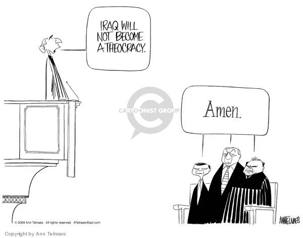 Cartoonist Ann Telnaes  Ann Telnaes' Editorial Cartoons 2004-02-23 John Ashcroft