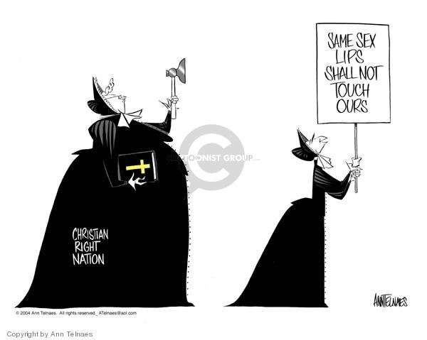 Ann Telnaes  Ann Telnaes' Editorial Cartoons 2004-02-24 George W. Bush