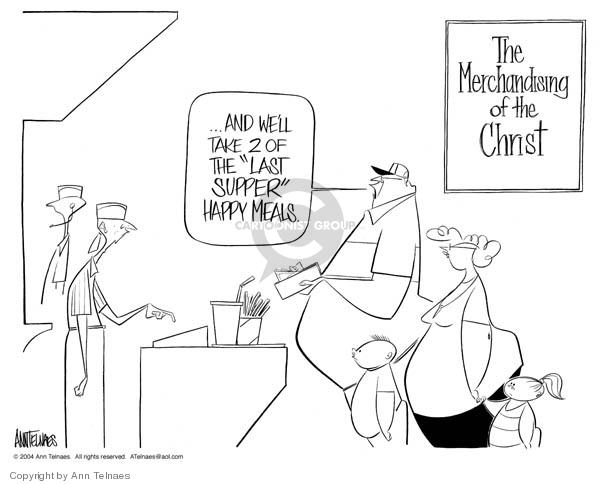 Ann Telnaes  Ann Telnaes' Editorial Cartoons 2004-02-26 food